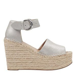 "Marc Fisher espadrilles ""alida"" wedge Silver NEW"